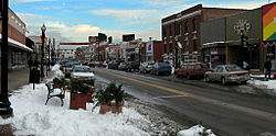 View down 9 Mile in Downtown Ferndale