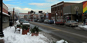 Ferndale, Michigan - View down 9 Mile in Downtown Ferndale