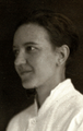 Dr. Signe Ingrid Löfgren in a 1928 photograph archived by the Museum of the Helsinki University Eye Hospital.png