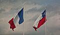 Drapeaux français et chiliens.jpg