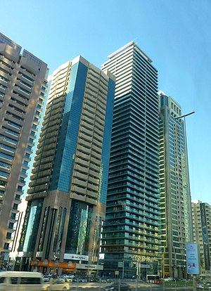 Four Points by Sheraton, Dubai - Image: Dubai Downtown Dubai Sheikh Zayed Road Union Tower Four Points by Sheraton Saeed Tower 2 وسط مدينة دبي شارع الشيخ زايد برج الاتحاد فور بوينتس باي ش panoramio
