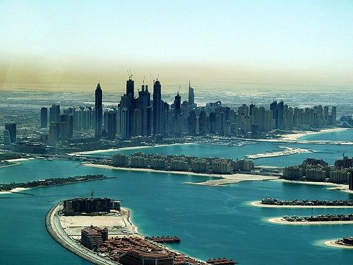 Palm Jumeirah and Dubai Marina