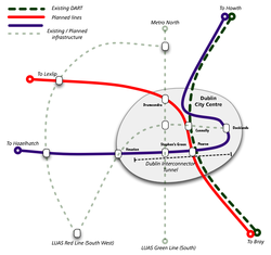 Dublin interconnector tunnel map.png