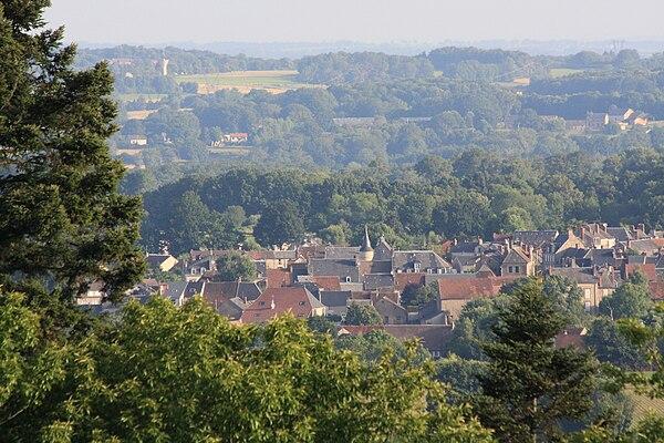 Le village depuis le bois de Chabannes.