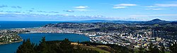 The city of Dunedin as seen from Signal Hill lookout.