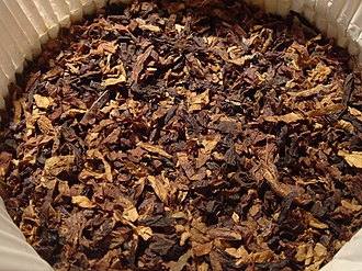 History of commercial tobacco in the United States - Shredded tobacco leaf for pipe smoking
