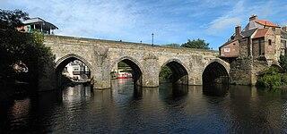 Elvet Bridge Grade I listed bridge in County Durham, United Kingdom