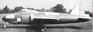Gloster E.1/44 - Gloster E.1/44 SM809, fitted with the original tail unit, circa 1944