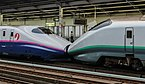 E2 Series and E3-2000 Shinkansen in multiple-unit train control at Utsunomiya Station 130812 1-2.jpg