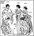 EB1911 Greek Art - Greek Drawing of Women Playing at Knucklebones.jpg