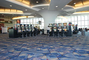 McCarran International Airport - A Gates and rotunda area with slot machines (2007)