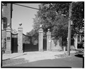 ENTRY GATES, FRONT OF HOUSE - William Blacklock House, 18 Bull Street, Charleston, Charleston County, SC HABS SC,10-CHAR,130-16.tif