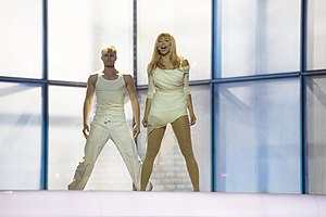 Estonia in the Eurovision Song Contest 2014 - Tanja at the first semi-final dress rehearsal