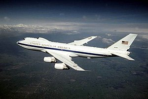 1st Airborne Command and Control Squadron - 1st Airborne Command and Control Squadron E-4 in flight
