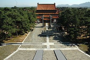 Eastern Qing tombs - Yuling, the tomb of the Qianlong Emperor.