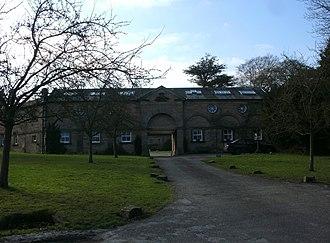 Edensor - Image: Edensor, Derbyshire Devonshire building 1