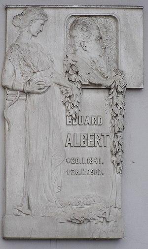 Eduard Albert - Image: Eduard Albert plaque family house