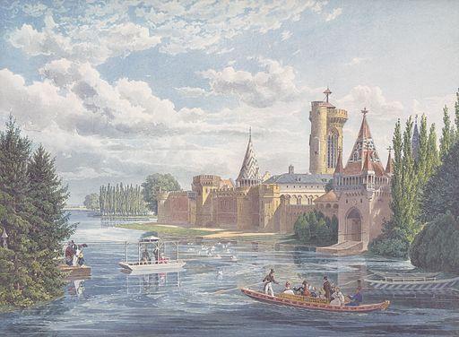 Eduard Gurk - Die Franzensburg in Laxenburg bei Wien - um 1838