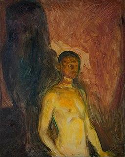 Edvard Munch - Self-Portrait in Hell - Google Art Project