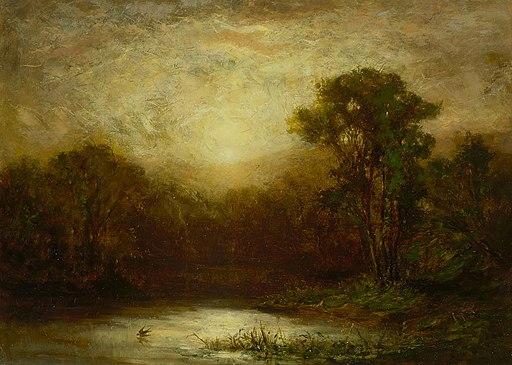 Edward Mitchell Bannister - Sunset - 1983.95.108 - Smithsonian American Art Museum
