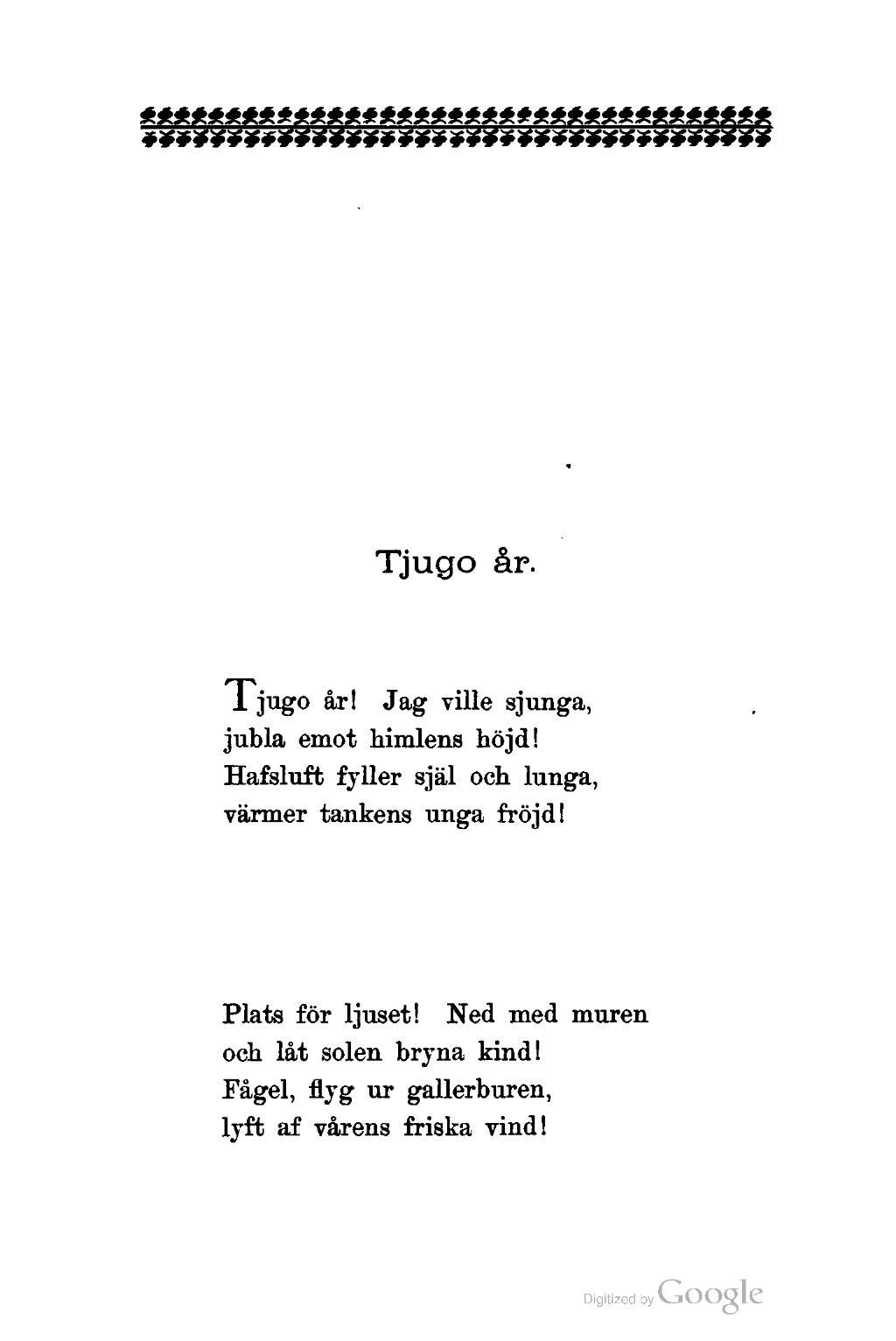 20 års dikt Sida:Efterlemnade dikter.djvu/103   Wikisource 20 års dikt