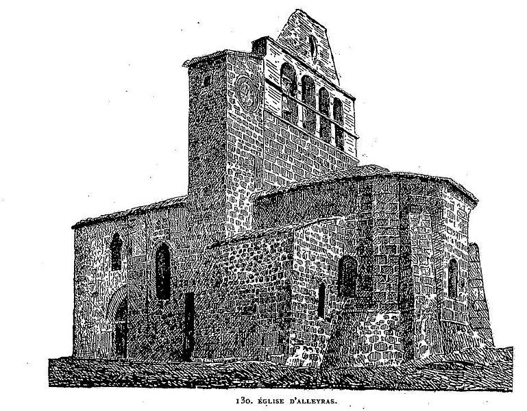 File eglise d 39 alleyras wikimedia commons - Eglise dessin ...