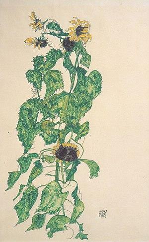 Egon Schiele - Sonnenblumen - 1917