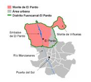 El Pardo mapa