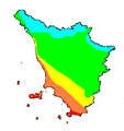 Eliofania assoluta media annua Toscana 1961-1990.PNG