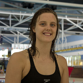 Ellie Cole - Cole after a training session at the Australian Institute of Sport Aquatic Centre