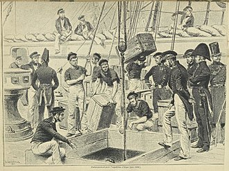 Invasion of Algiers in 1830 - Sailors loading the ships for the expedition.