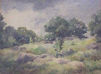 Emma Lampert Cooper - Emma Lampert Cooper (1855–1920), Spring Landscape, water color