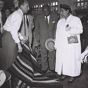 Menen Asfaw - Empress Menen Asfaw from Ethiopia on a private visit to Israel. 6 May 1959