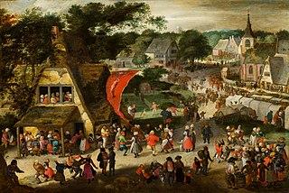 St. Sebastian fair in a Flemish village