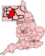 Kart over Birmingham