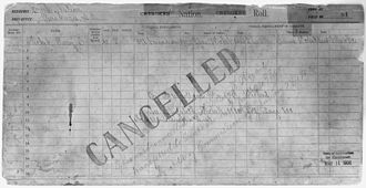 Cherokee freedmen controversy - Enrollment for Cherokee Census Card D1