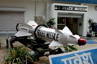 Indian Air Force Museum, Palam - Entrance to Air Force Museum, Palam, New Delhi(In the background)with a Laser Guided missile