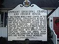 Epiphany Chapel and Church House Marker Dec 09.JPG