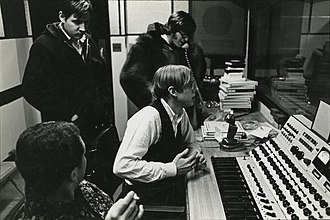 Erik Jacobsen - Erik Jacobsen at the desk in the studio with the Lovin' Spoonful