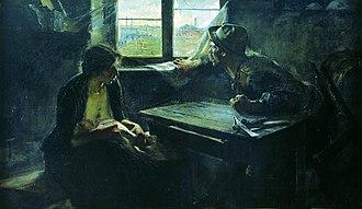 Generation of '80 - Image: Ernesto de la Cárcova Sin pan y sin trabajo, 1894