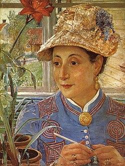 JOSEPHSON Ernst  Portrait of Jeanette Rubenson 1883