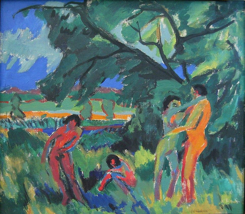 Ernst Ludwig Kirchner Spielende nackte Menschen 1910-1