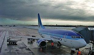 Estonian Air B737-5L9 (ES-ABL) parked at Tallinn Airport.jpg