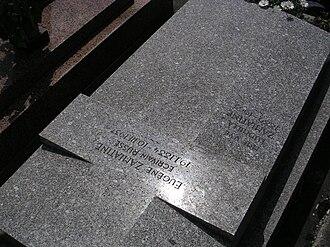 """Yevgeny Zamyatin - Tomb of Yevgeny Zamyatin at the """"Cimetière de Thiais"""", Division 21, Line 5, Grave 36."""