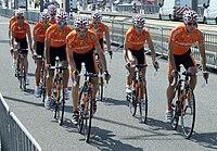 Euskaltel Tour 2010 prologue training 2.jpg