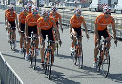 Euskaltel Tour 2010 prologue training 2.jpg