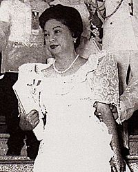Eva Macapagal Eva Macapagal departing for Malacañang.jpg