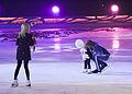 Evgeni Plushenko and Yana Rudkovskaya with son (Snow King show).jpg