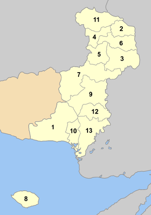 Evros municipalities numbered.png