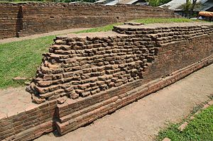 Chandraketugarh - Excavated Brick Structure of Khana-Mihir Mound, Chandraketugarh, Berachampa, North 24 parganas district.